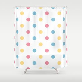 Fresh polka dot seamless background or pattern Shower Curtain