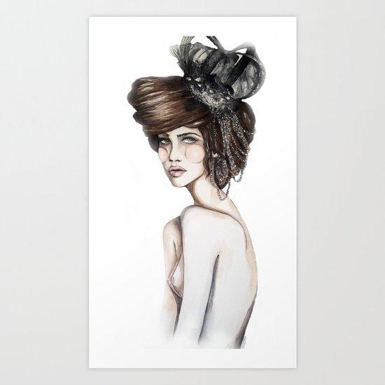 Queen of Diamonds // Fashion Illustration Art Print