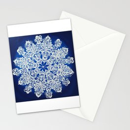 White snowflake in Petrykivka style Stationery Cards