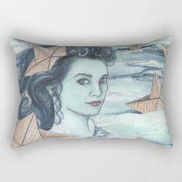 Paper ships IV Rectangular Pillow