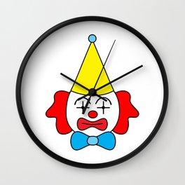 Clown - funny face. Wall Clock
