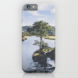 Mountain and river landscape in Killarney, Ireland iPhone Case