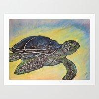 Sea Turtle Hues Art Print