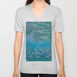 Claude Monet - Water Lilies Unisex V-Neck