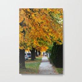 Autumn on My Street Metal Print