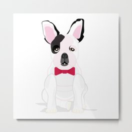 French in a Bowtie Metal Print