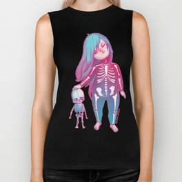 Candy Ghosts version 2 Biker Tank