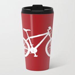 Mountain Bike Red Metal Travel Mug
