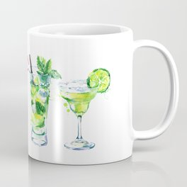 Four Cocktails - Watercolour Drinks - Party Print Coffee Mug