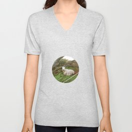Lamb in the Grass  Unisex V-Neck