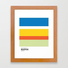 The Color of - MARGE Simpsons Framed Art Print