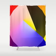 Expressionist Cubes II  Shower Curtain