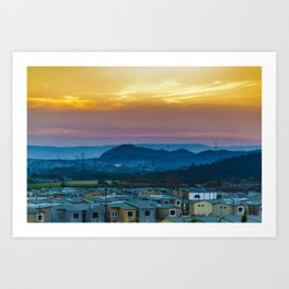 Twiglight Landscape Scene Guayaquil, Ecuador Art Print