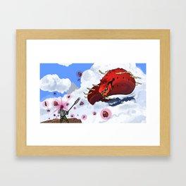 Fist over Sword. Framed Art Print