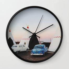 Wigwam Motel Wall Clock