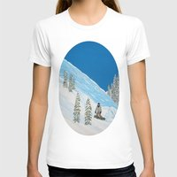 snowboarding T-shirts featuring Snowboarding by N_T_STEELART