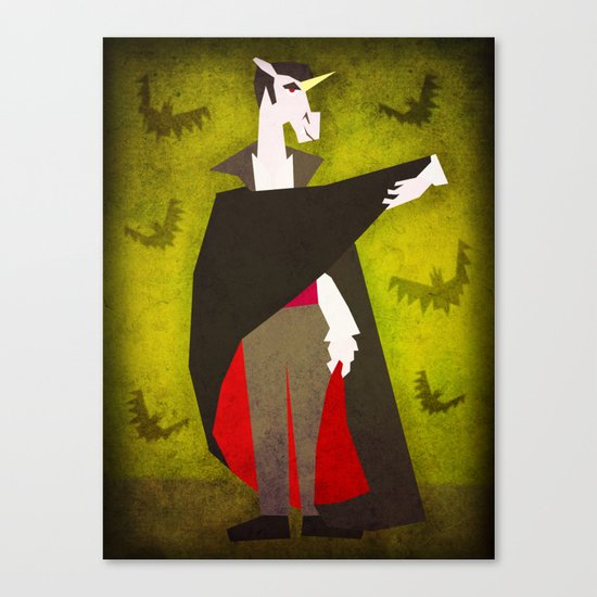 Dracula Unicorn Canvas Print