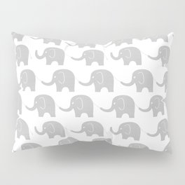 Grey Elephant Parade Pillow Sham