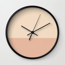 LIGHT CREME x MEDIUM CREME Wall Clock