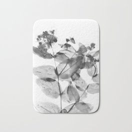 Ghostly Blooms Bath Mat