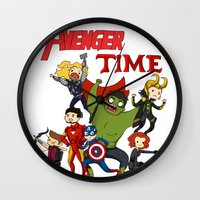 avenger Wall Clocks featuring Avenger Time! by ArtisticCole