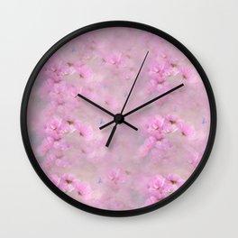 PINK SPRING TIME FLOWER GARDEN Wall Clock