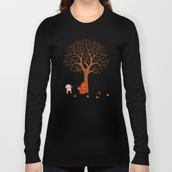 the fall and dog Long Sleeve T-shirt