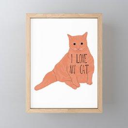 Fat Orange Cat Framed Mini Art Print