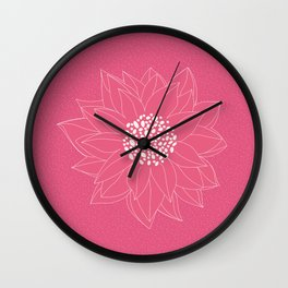 Pink Chrysanthemum Wall Clock
