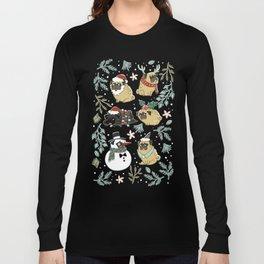Christmas Pugs Langarmshirt