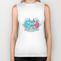 pisces Biker Tanks featuring Pisces by StudioBlueRoom