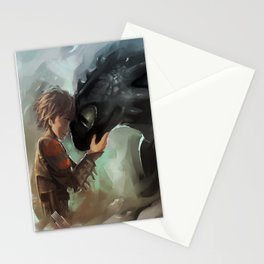 hiccup & toothless Stationery Cards