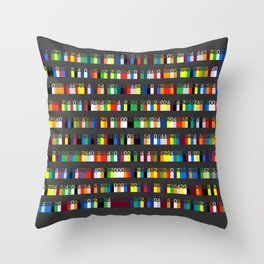 Color by Number: Pi Throw Pillow