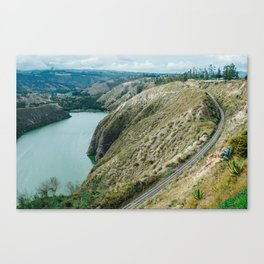 Rail Over Lake Canvas Print