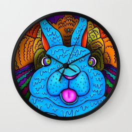 RABBIT IN PARADISE Wall Clock