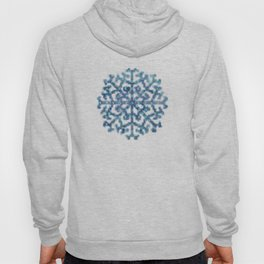 Amazing Watercolor Snowflakes Pattern on the dark blue background Hoody