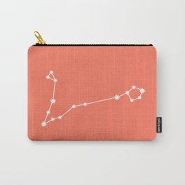 Pisces Zodiac Constellation - Coral Red Carry-All Pouch