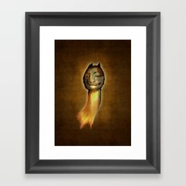 ...meanwhile in the woods... Framed Art Print