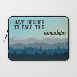 Face This Mountain (Jon Foreman Lyrics Illustration) Laptop Sleeve