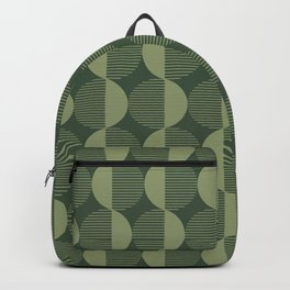 Abstract Circles pattern green  Backpack