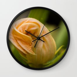 Courgette Flower Wall Clock
