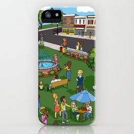 A Digital Day at the Fountain iPhone Case
