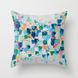 Tropical Confetti Throw Pillow