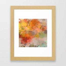 Modern contemporary Yellow Orange Abstract Framed Art Print