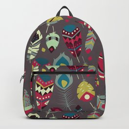 Tribal feather pattern 028 Backpack