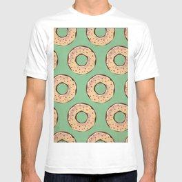 Vintage Donut Pattern T-shirt