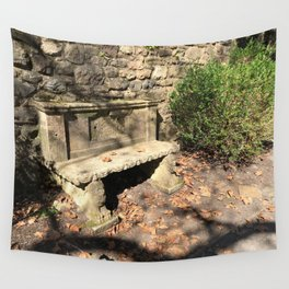 Concrete Bench Wall Tapestry