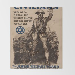 Vintage poster - National Jewish Welfare Board Throw Blanket