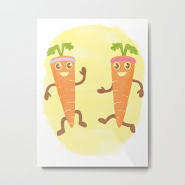 Look At These Fucking Carrots Being All Healthy And Shit. Just Look At Them.  Metal Print