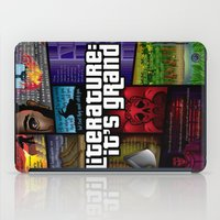 grand theft auto iPad Cases featuring Grand Theft Literature by Mitul Mistry
